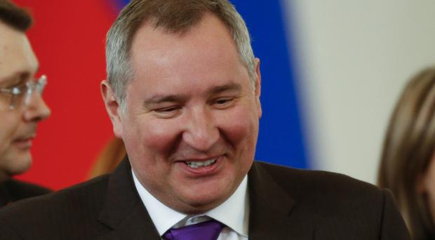 Dmitry Rogozin is barred from entering the EU and Norway. (AP)