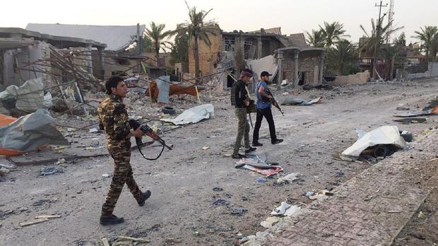 Iraqi security forces and tribal fighters regain control of the northern neighbourhoods of Ramadi. (AP)