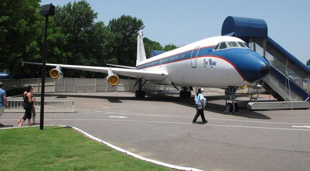 The Lisa Marie, one of two jets once owned by Elvis Presley, is a tourist attraction at the King's Graceland mansion (AP)