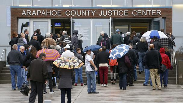The Batman shooting trial is being held at the Arapahoe County Justice Center in Denver