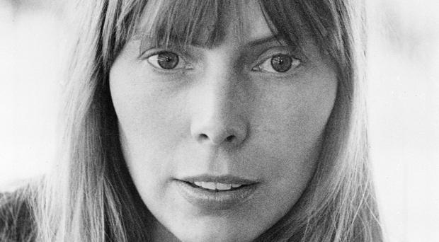 Joni Mitchell pictured in 1972. The singer-songwriter has been in hospital since March 31 (AP)