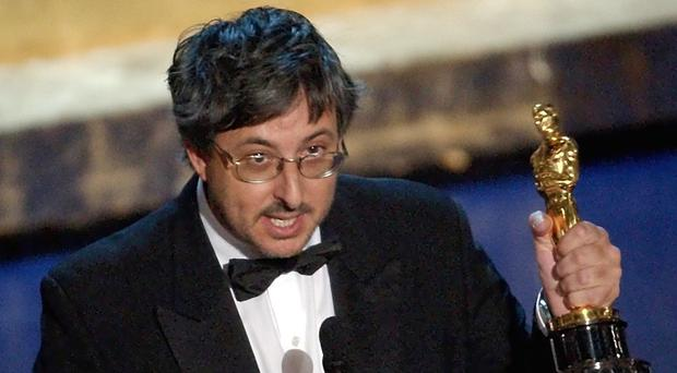 Andrew Lesnie accepts his Oscar in 2002 for his work on The Lord Of The Rings: The Fellowship Of The Ring (AP)