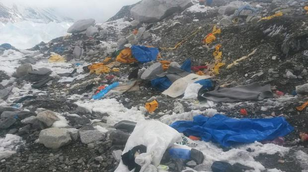 An avalanche sparked by the massive earthquake which hit Nepal on Saturday has destroyed some of the key climbing routes (AP)
