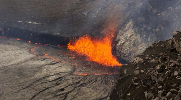Sparks rise from Kilauea volcano on Hawaii's Big Island (AP/USGS Hawaiian Volcano Observatory)