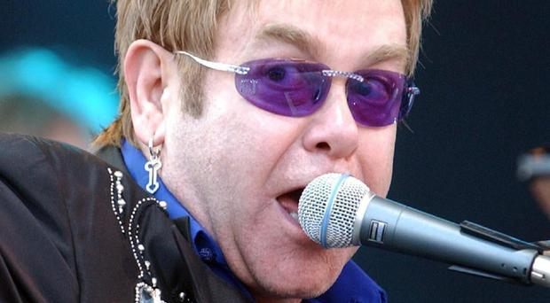 A pair of Sir Elton John's glasses was stolen from a US museum