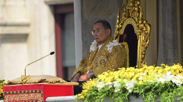 Thai King Bhumibol Adulyadej, pictured in 2012 marking his 85th birthday (AP)
