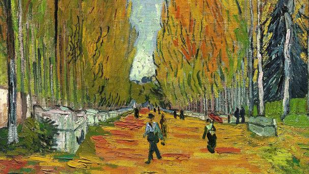 The Vincent van Gogh painting The Allee Of Alyscamps sold for nearly £46 million (Sotheby's/AP)