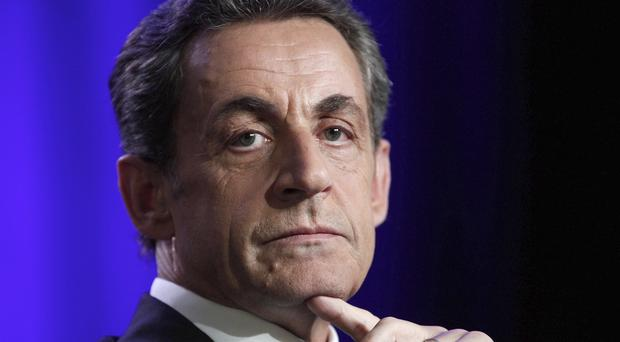 Former French president Nicolas Sarkozy denies any wrongdoing (AP)