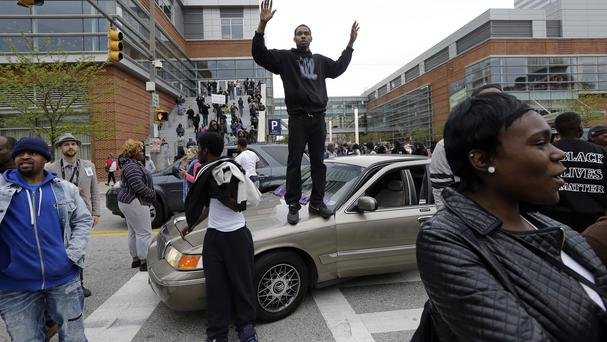 The death of Freddie Gray sparked huge protests in Baltimore. (AP)