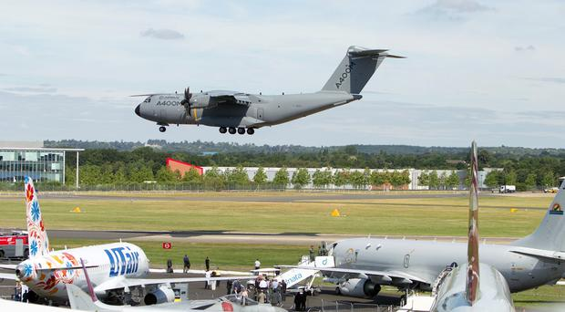 The plane was an Airbus A400M