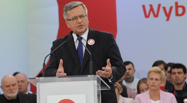 Polish President Bronislaw Komorowski is hoping to be re-elected for a second term of office
