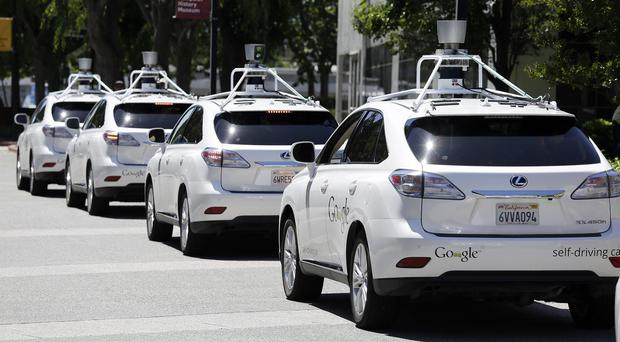 Google self-driving Lexus cars in California (AP/File)