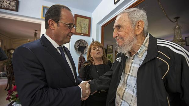 Shut off from the West for 55 years, Cuba was forced to come up with many of its own medical breakthroughs - and excelled in doing so. Above: Francois Hollande meets 88-year-old Fidel Castro during the first French Presidential visit to Cuba for more than 100 years on 11 May, 2015