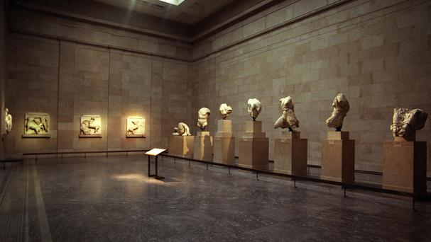 The Parthenon Sculptures, also known as the Elgin Marbles, at the British Museum in London