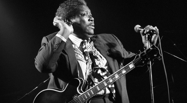 BB King performing in Belfast in 1990