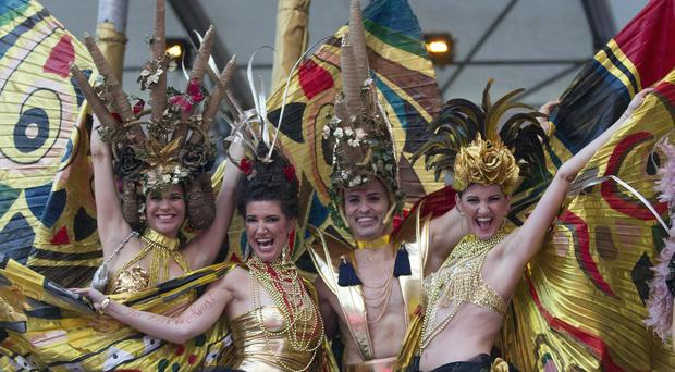 Guests at the Life Ball in Vienna, raising money for people living with HIV and AIDS (AP)