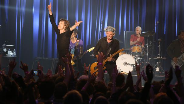 The Rolling Stones performed a surprise concert at the small Fonda Theatre in Los Angeles (The Rolling Stones/AP)
