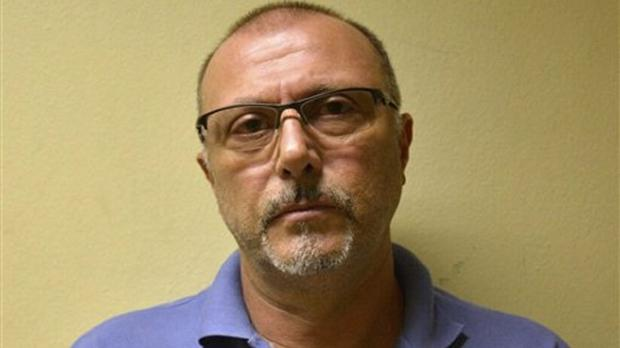 Italian Pasquale Scotti after his arrest in Recife (Brazil Federal Police via AP)