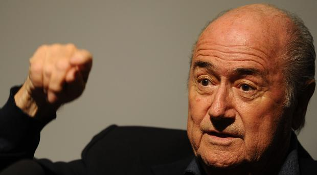 Sepp Blatter was speaking in a defiant interview with his local Swiss broadcaster