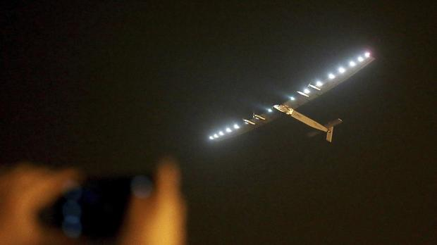 The Solar Impulse 2 takes off from Nanjing Lukou International Airport (AP/Chinatopix)