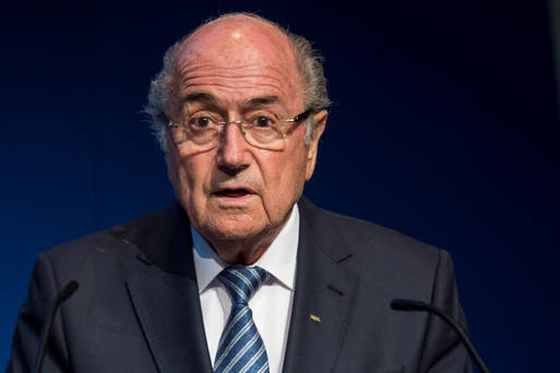 Sepp Blatter speaking at a Press conference in Zurich yesterday