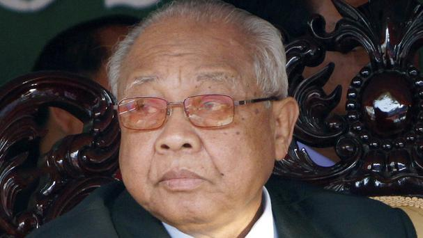 Chea Sim, president of the ruling Cambodian People's Party, has died. (AP)