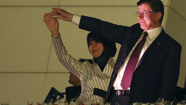Turkey's Prime Minister and leader of the ruling Justice and Development Party Ahmet Davutoglu. (AP)