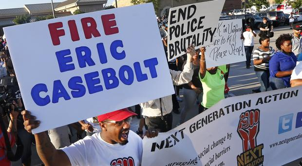 Protestors during a demonstration in response to the incident in McKinney, Texas. (AP)