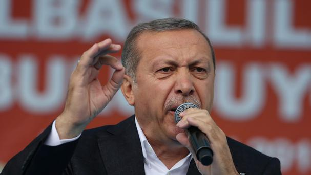 President Recep Tayyip Erdogan has called for Turkey's political parties to form a new government. (AP)