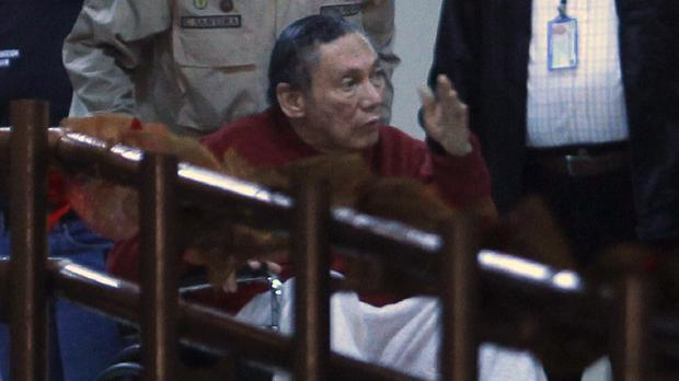 Manuel Noriega is in Panama completing a 60-year sentence for murder, corruption and embezzlement (AP)