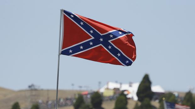 The flying of the Confederate flag causes great controversy in the US (AP)