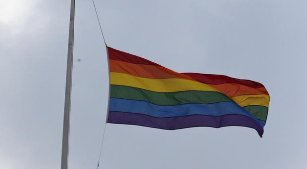 A bystander was shot at the gay pride event after an argument that police said had nothing to do with it (AP)