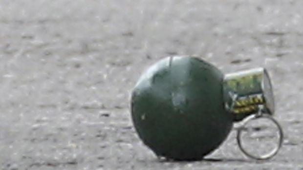 A hand grenade has been found at the Red Star Belgrade football stadium ahead of a match
