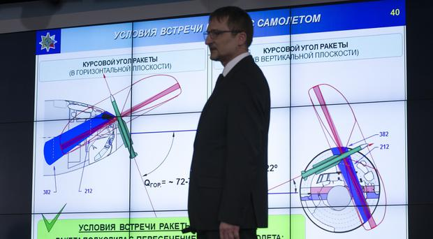 Mikhail Malyshevsky, from the Russian maker of the Buk air defence missile system, said it has concluded that Malaysian Airlines flight 17 was downed by an older version of the missile, which isn't in service with the Russian military but is in Ukrainian arsenals. (AP)