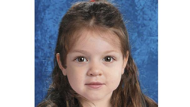 A computer-generated possible likeness of the little girl whose body was found inside a bag on the shore of Deer Island in Boston Harbour (Suffolk County District Attorney/AP)
