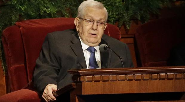 Boyd Packer addresses last year's Annual General Conference of The Church of Jesus Christ of Latter-day Saints (AP)