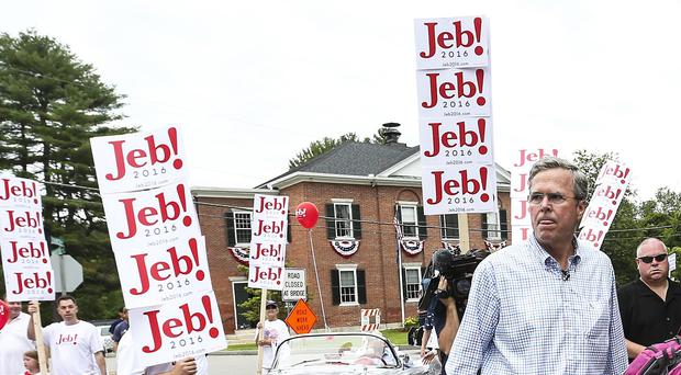 Republican presidential candidate Jeb Bush has slammed Donald Trump's remarks about Mexican immigrants (AP)