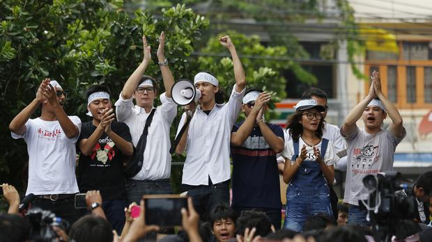 Student activists were arrested amid a ban on political gatherings (AP)