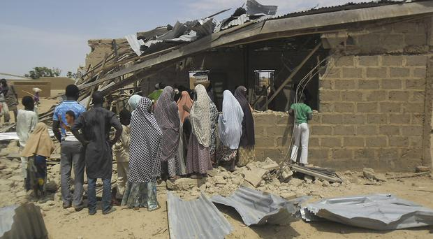 Nigeria has suffered a number of deadly attacks in recent days, including at a church in Potiskum (AP)