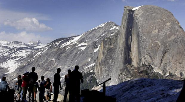 Half Dome at Yosemite National Park, California, has suffered a massive rock fall (AP)