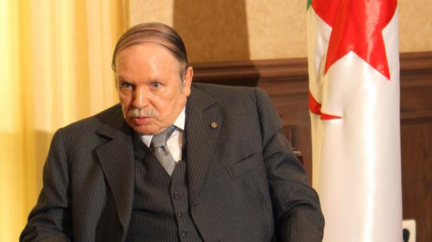 Algerian president Abdelaziz Bouteflika is holding a security meeting over the unrest (AP)