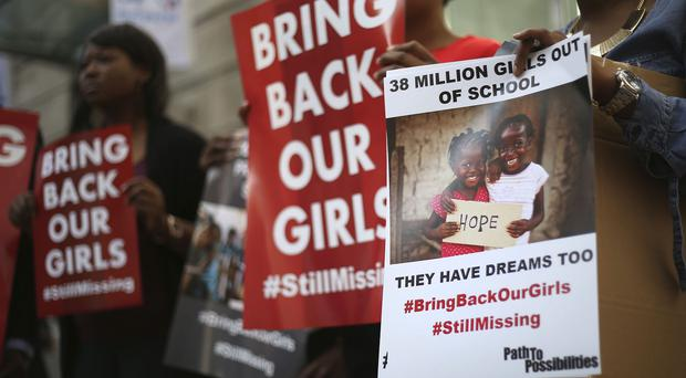Campaigners protesting against Boko Haram who have been blamed for previous attacks in Chad