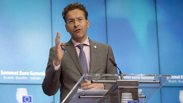 Dutch finance minister Jeroen Dijsselbloem has been re-elected as head of the eurogroup. (AP)