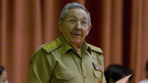Cuba's president Raul Castro addresses the National Assembly in Havana (Cubadebate/AP)