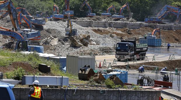 Japan's National Stadium was dismantled for the renovation for the 2020 Tokyo Olympic Games (AP)