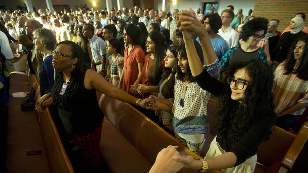An interfaith memorial service in Chattanooga for the victims of the shootings. (AP)