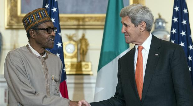 Nigerian president Muhammadu Buhari was in Washington this week and met with Secretary of State John Kerry (AP)