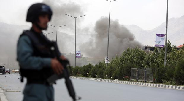 Taliban fighters have taken control of a police base in Afghanistan