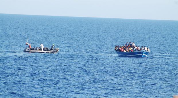 The Irish Navy has been part of an ongoing migrants rescue mission in the Mediterranean (Irish Defence Forces/PA)