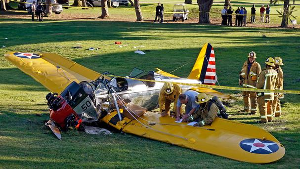 Harrison Ford was injured in the plane crash in California (AP)